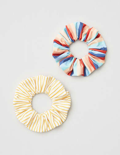 AE Rainbow & Stripe Scrunchie 2-Pack -