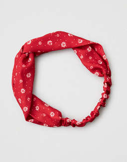AEO Red Floral Headband