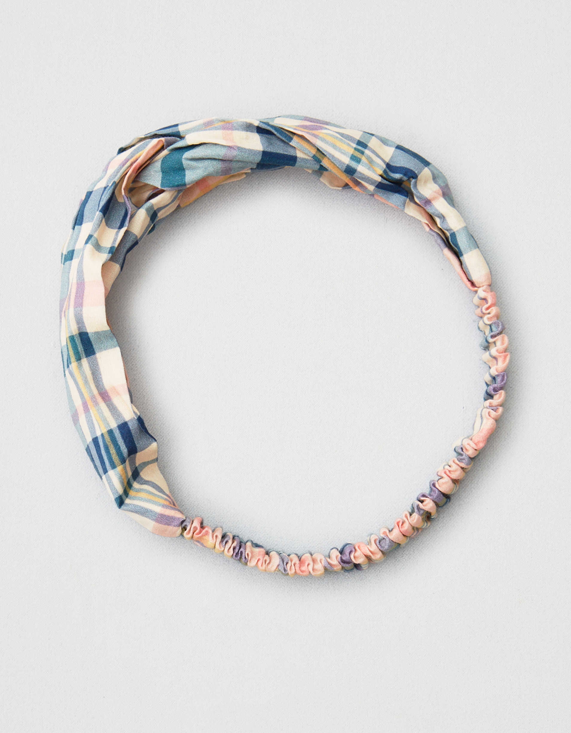 AEO Plaid Twist Front Headband