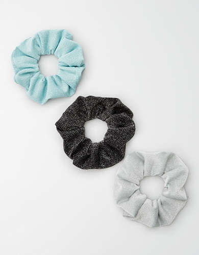 AEO Soft Glitter Scrunchies 3-Pack -