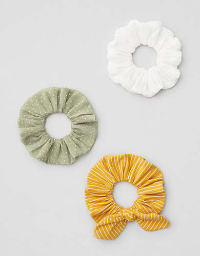 AEO Stripe + Dot Scrunchies 3-Pack -