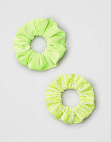 AEO Neon Green Scrunchies 2-Pack -