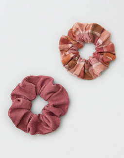 AEO Flannel Scrunchie 2-Pack
