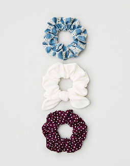 AEO Purple Dot Scrunchie 3-Pack
