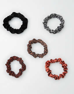 AEO Leopard Mini Scrunchie 5-Pack