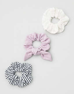 AEO Purple + Stripe Scrunchie 3-Pack