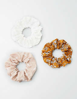 AEO Pineapple Scrunchie 3-Pack