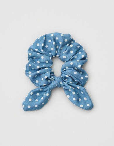 AEO Chambray Bow Scrunchie