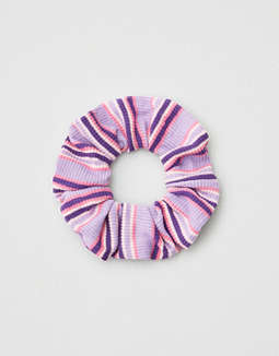 AEO Purple Stripe Scrunchie