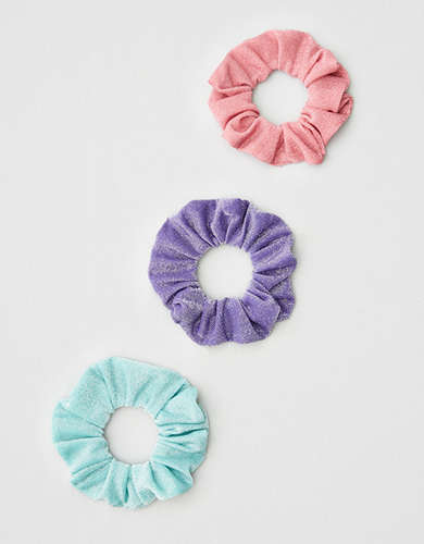 AEO Glitter Scrunchies 3-pack