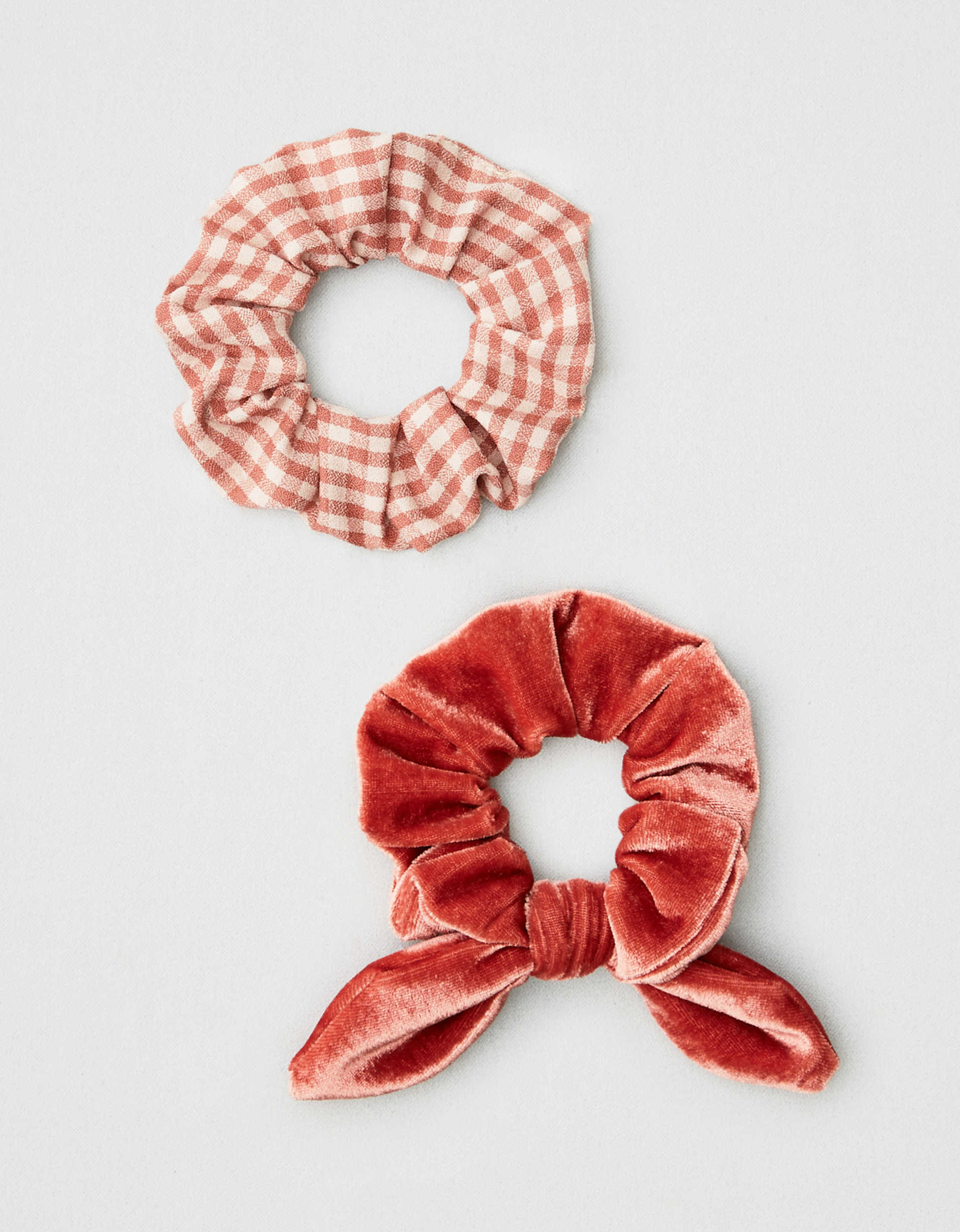 AEO Velvet + Plaid Scrunchies 2-Pack