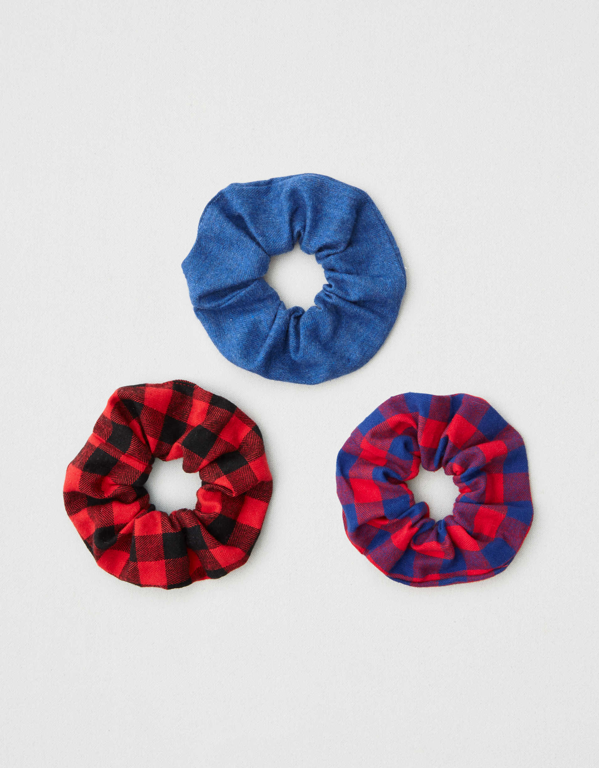 AEO Plaid Scrunchies 3-Pack