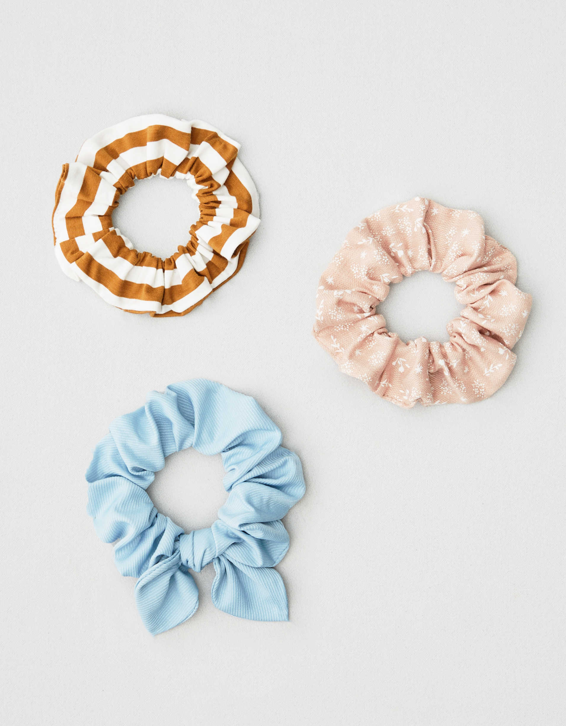AEO Striped + Polka Dot Scrunchies 3-Pack
