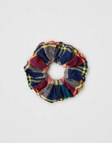 AEO XL Plaid Scrunchie