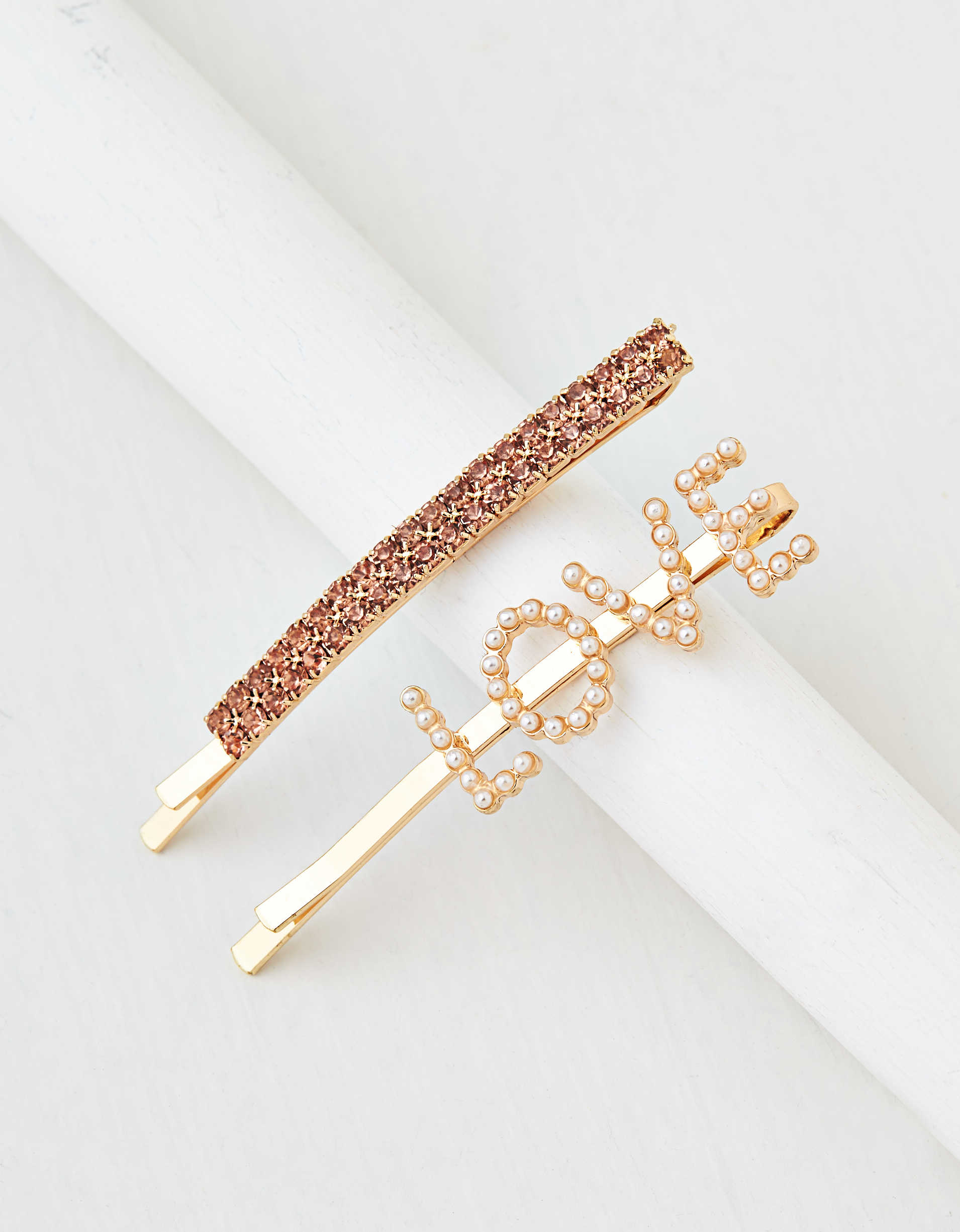 AEO Love + Crystal Bobby Pins 2-Pack