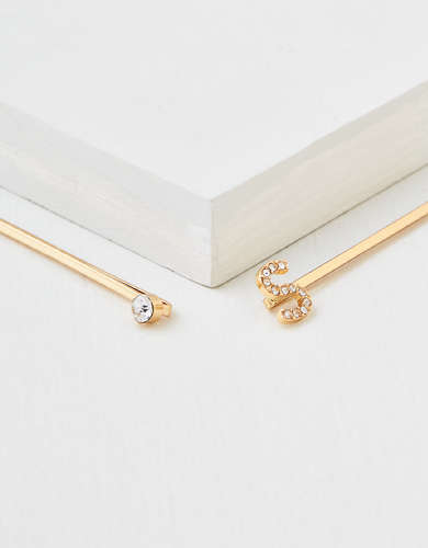 AEO S Crystal Bobby Pins 2-Pack