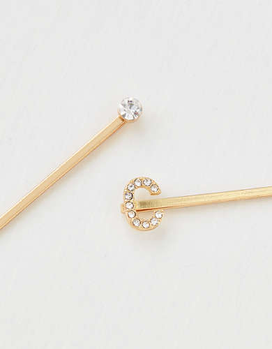 AEO C Crystal Bobby Pins 2-Pack