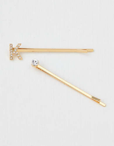 AEO K Crystal Bobby Pins 2-Pack