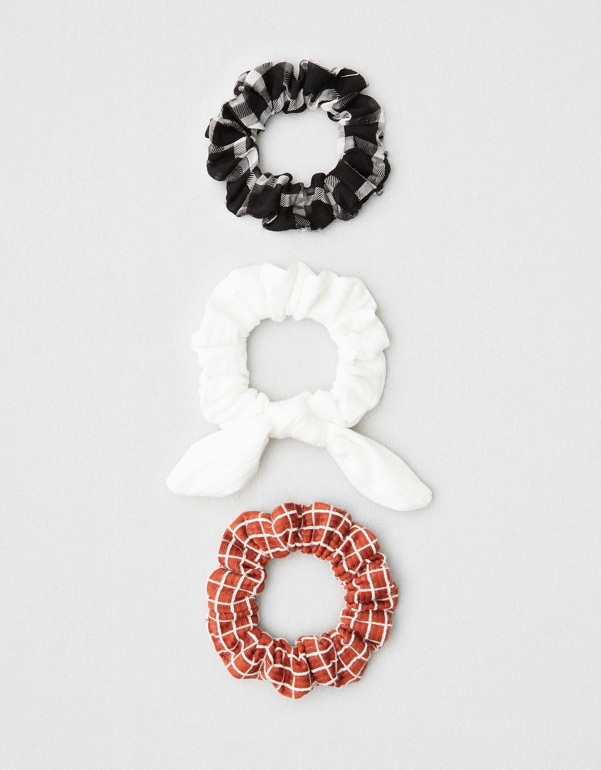 AEO Printed + Bow Scrunchies 3-Pack