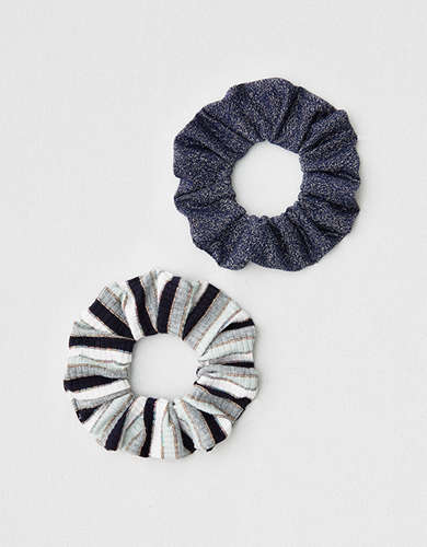 AEO Metallic Striped Scrunchies 2-Pack