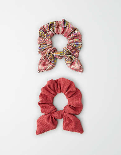 AEO Plaid Bow Scrunchies 2-Pack