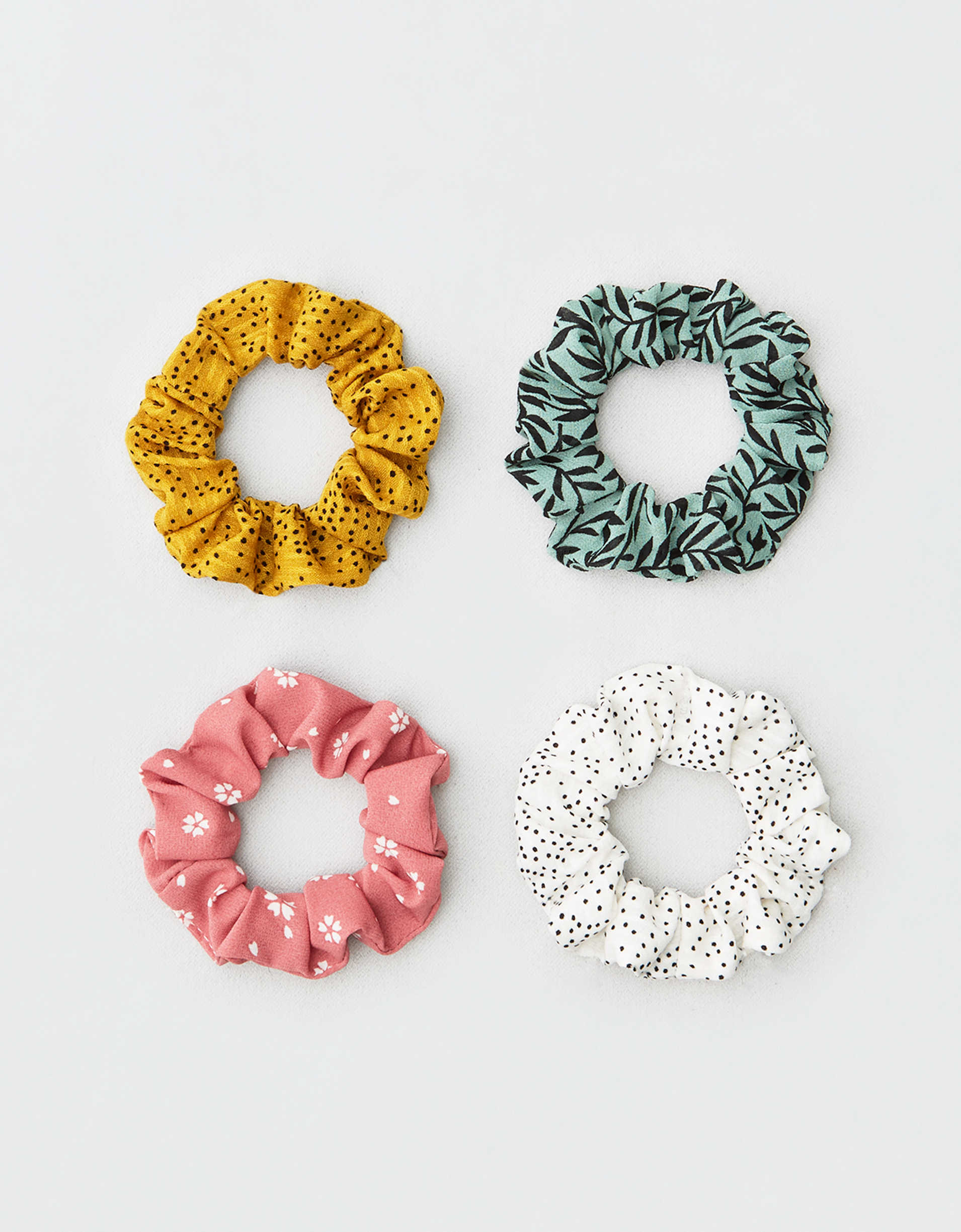 AEO Floral Scrunchies 4-Pack
