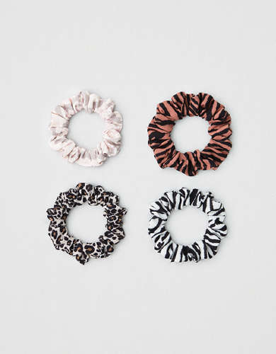 AEO Animal Print Scrunchies 4-pack