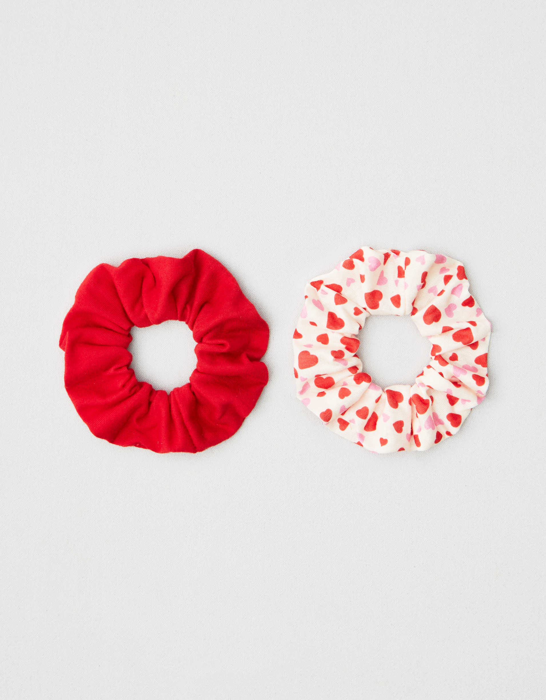 AEO Hearts Scrunchies 2-Pack