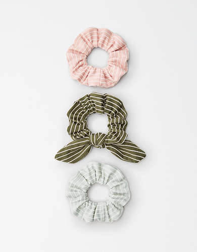 AEO Striped Scrunchies 3-Pack