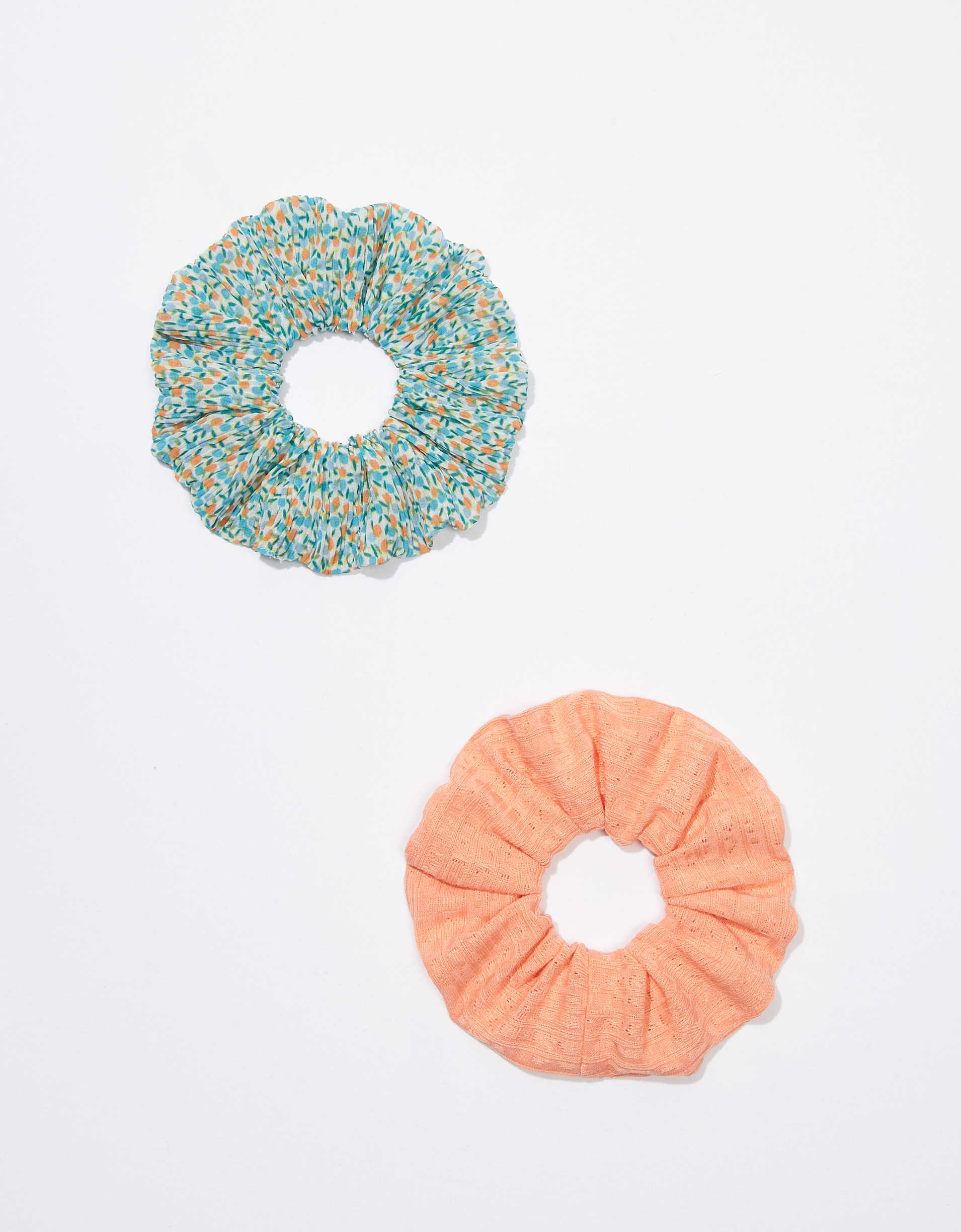 AEO Peach + Ditsy Scrunchies 2-Pack