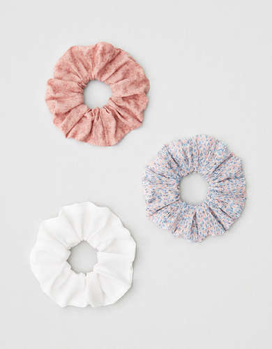 AEO Rose + Ditsy Scrunchies 3-Pack