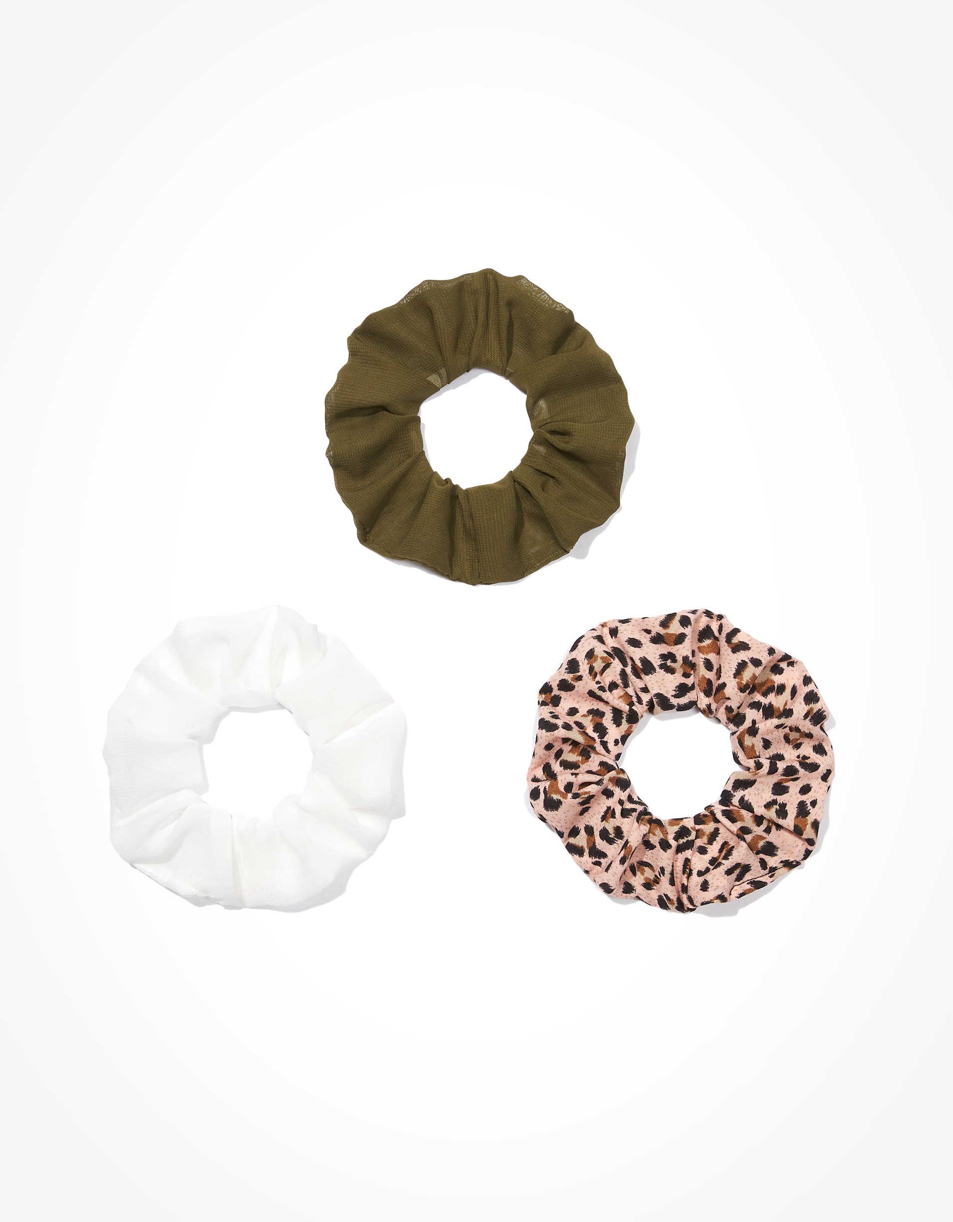 AEO Leopard Scrunchies 3-Pack