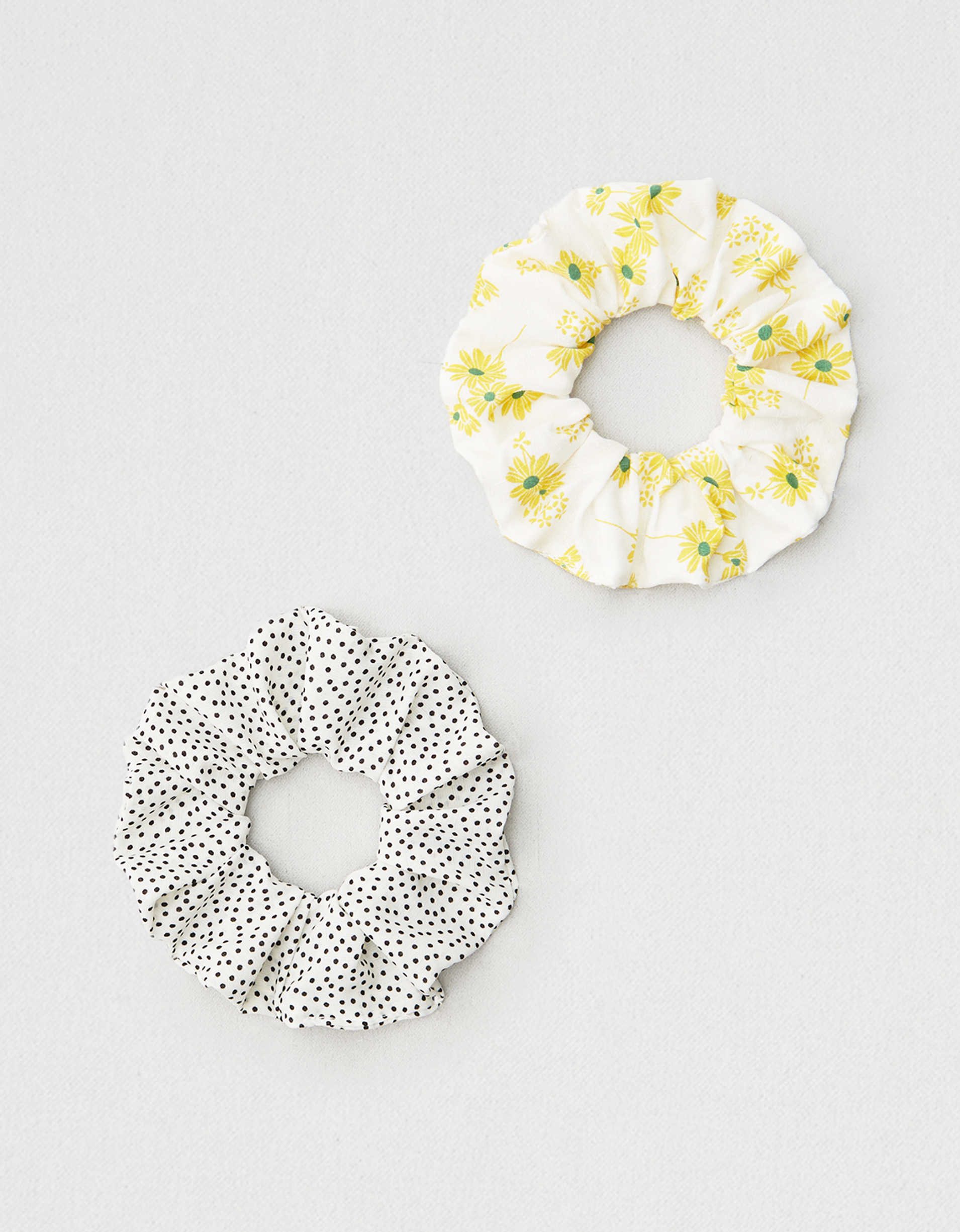 AEO Polka Dot + Floral Scrunchies 2-Pack