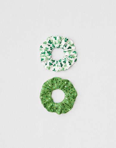 AEO St. Patty's Day Scrunchies 2-Pack