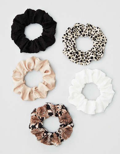 AEO Animal Print Scrunchies 5-Pack