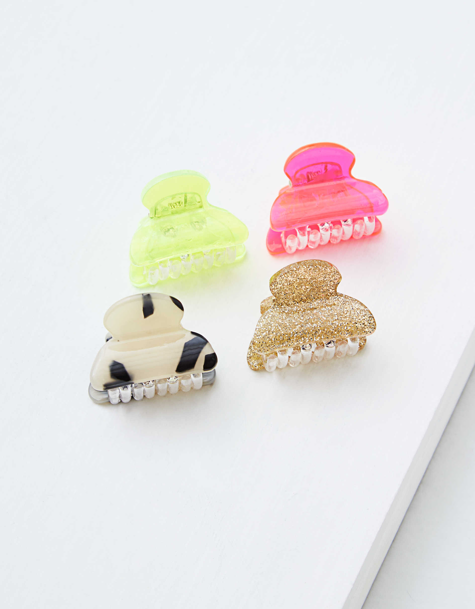 AEO Mini Hair Clips 4-Pack