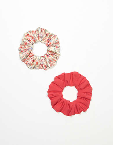 AEO Floral Scrunchies 2-pack