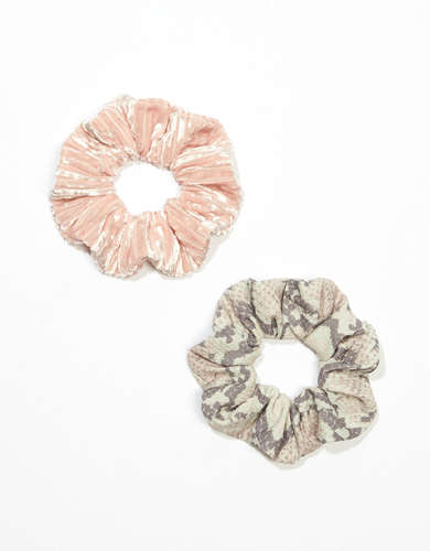 AEO Snake + Velvet Scrunchies 2-Pack