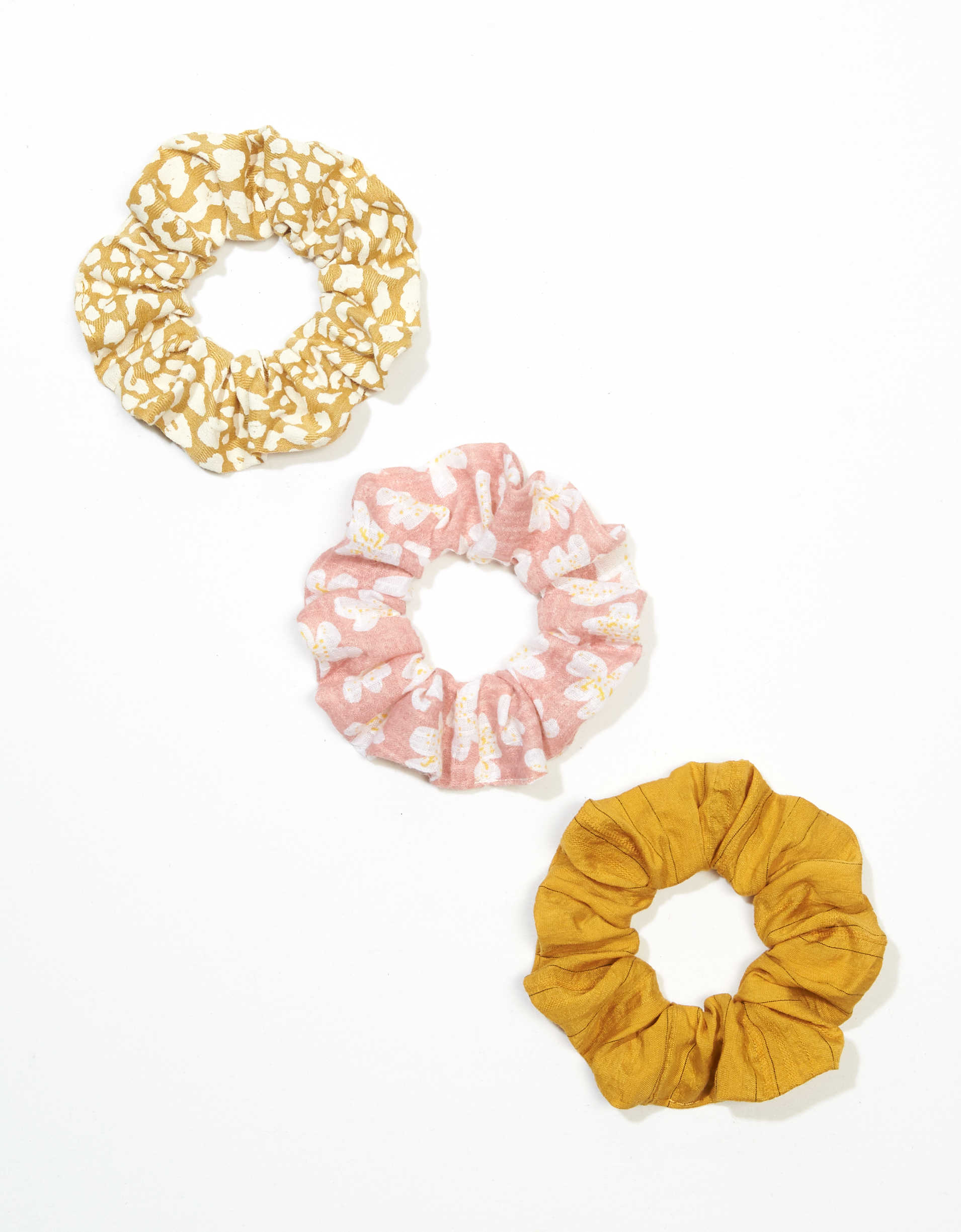 AEO Floral + Leopard Scrunchies 3-Pack