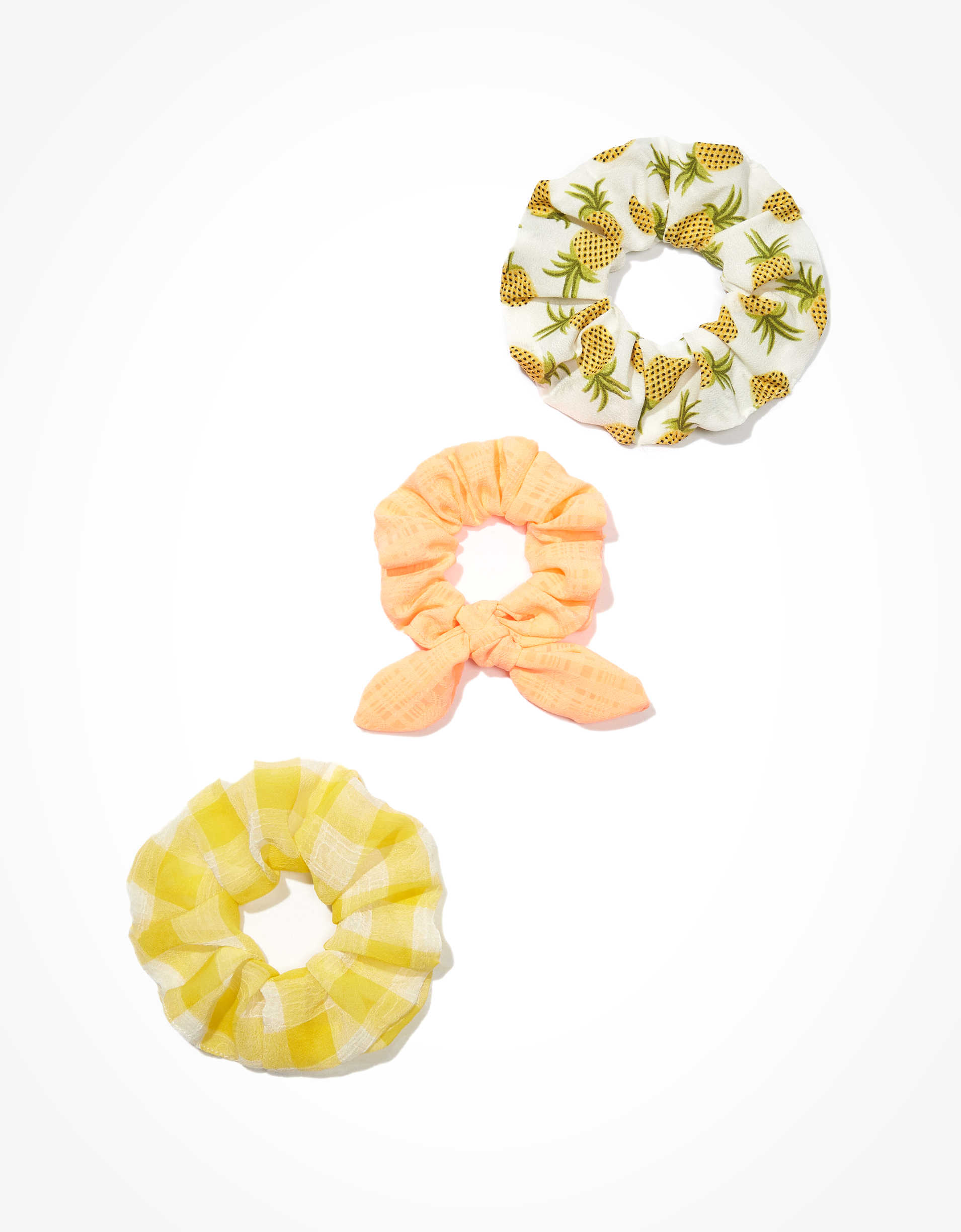 AEO Pineapple Scrunchies 3-pack