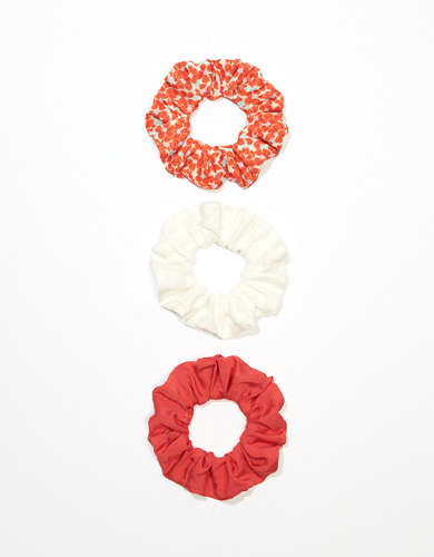 AEO Ditsy Floral Scrunchies 3-Pack