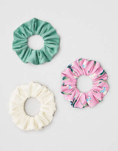 AEO Tropical Scrunchies 3-Pack