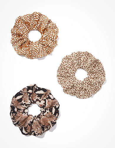 AEO Animal Print Scrunchies 3-Pack