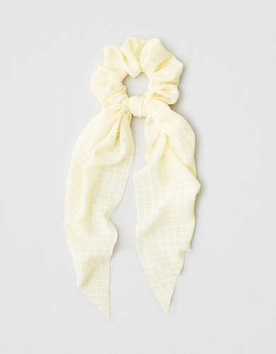 AEO Plaid Bow Scrunchie