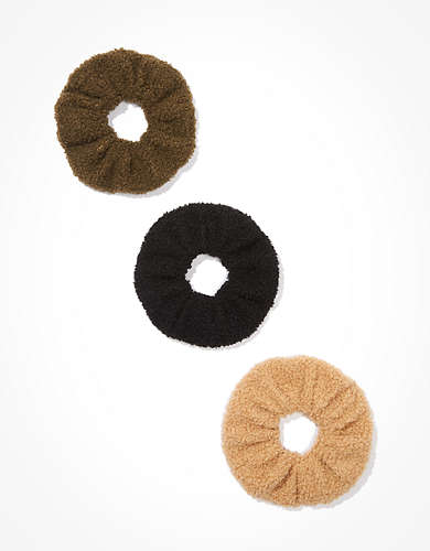 AEO Sherpa Scrunchies 3-Pack