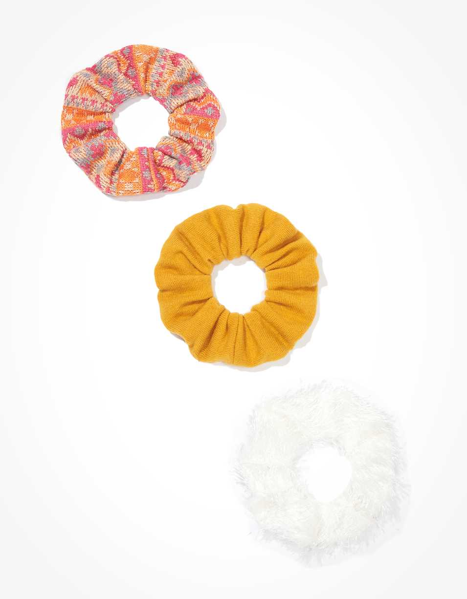 AEO Fairisle Scrunchies 3-Pack