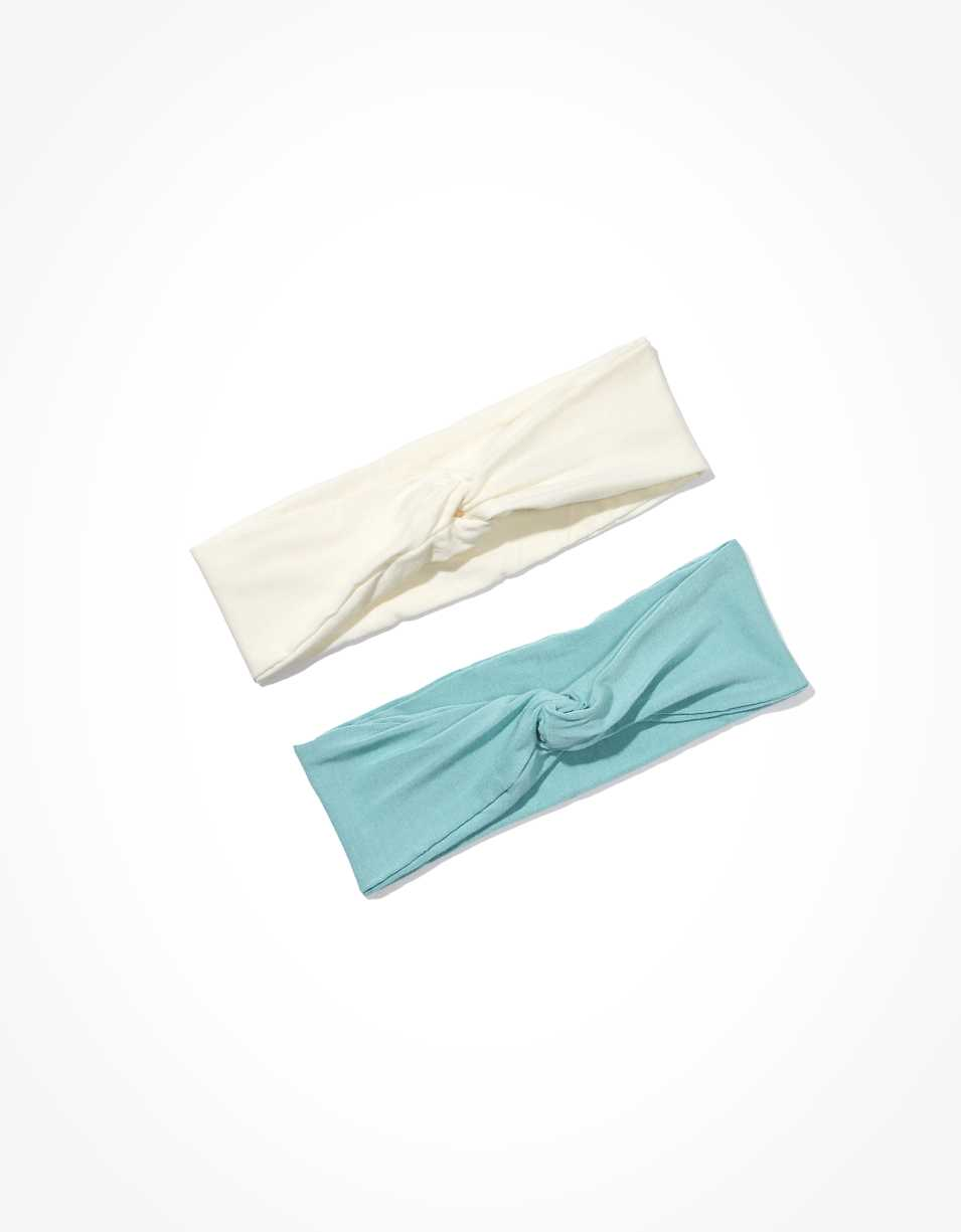 AEO Mint + Cream Headbands 2-Pack