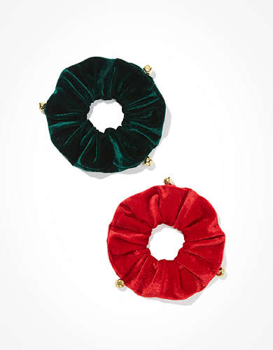 AEO Jingle Bell Scrunchies 2-Pack