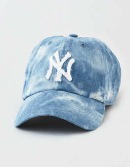 '47 Brand NYY Denim Fray Clean Up Hat