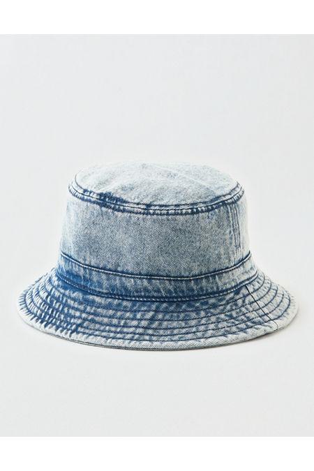 Women's Vintage Hats | Old Fashioned Hats | Retro Hats AE Denim Bucket Hat Womens Blue One Size $13.46 AT vintagedancer.com